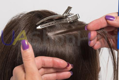 Photo learn hair extensions