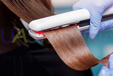 Photo The alignment of the hair keratin