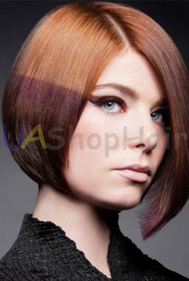 Hairstyle with horizontal coloring uashophair