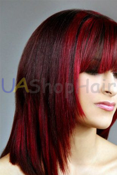 Hairstyle with red strands uashophair