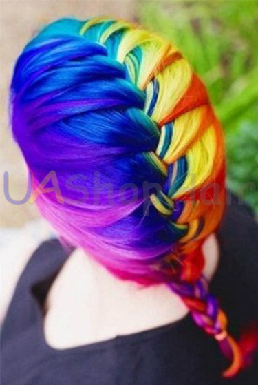 Hairstyle with iridescent dyeing uashophair