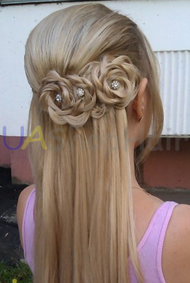 Hairstyle with rose uashophair