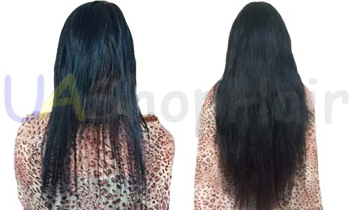 Slavyanka, black, wavy hair extensions